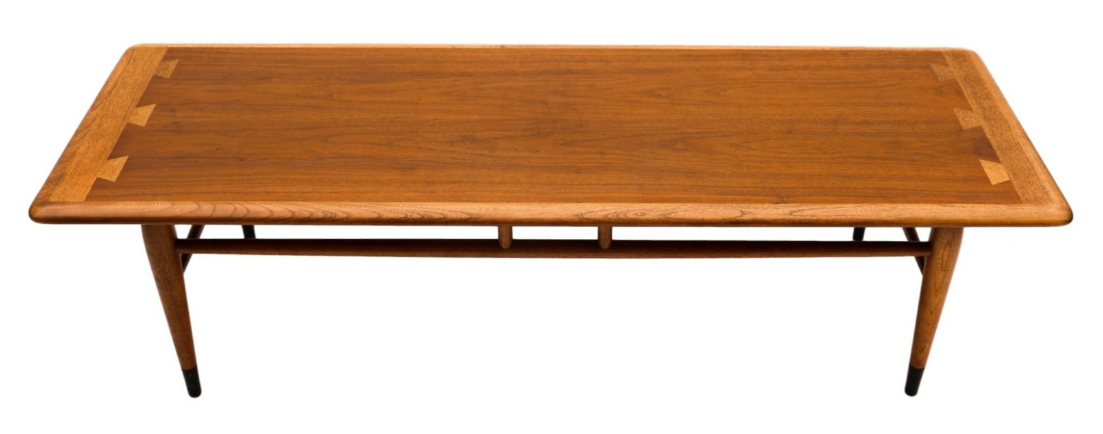Mid century modern furniture lane coffee table inlaid for Mid century modern
