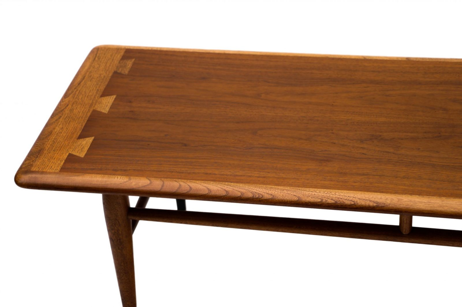 Mid Century Modern Furniture LANE Coffee Table Inlaid Dovetail