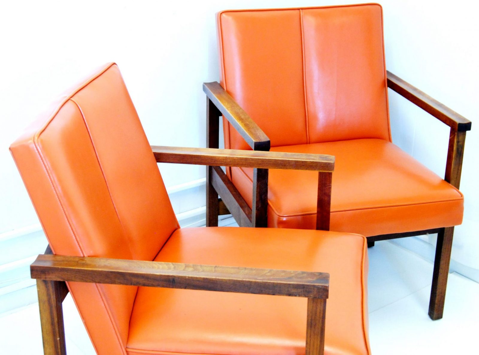 A Pair of Danish Mid Century Modern Arm Chairs