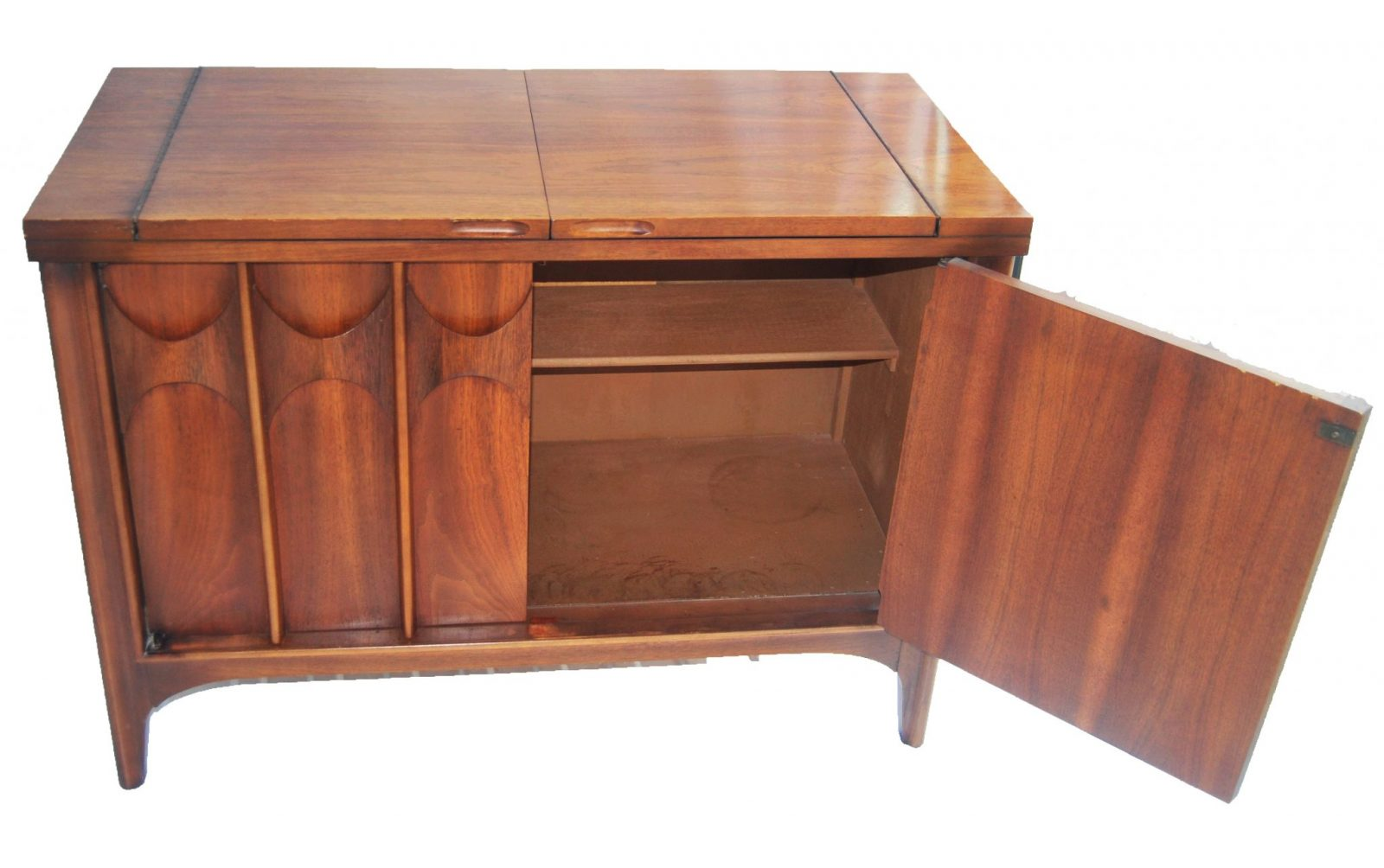 "A ""Brasilia"" Flip top bar sideboard by Broyhill"