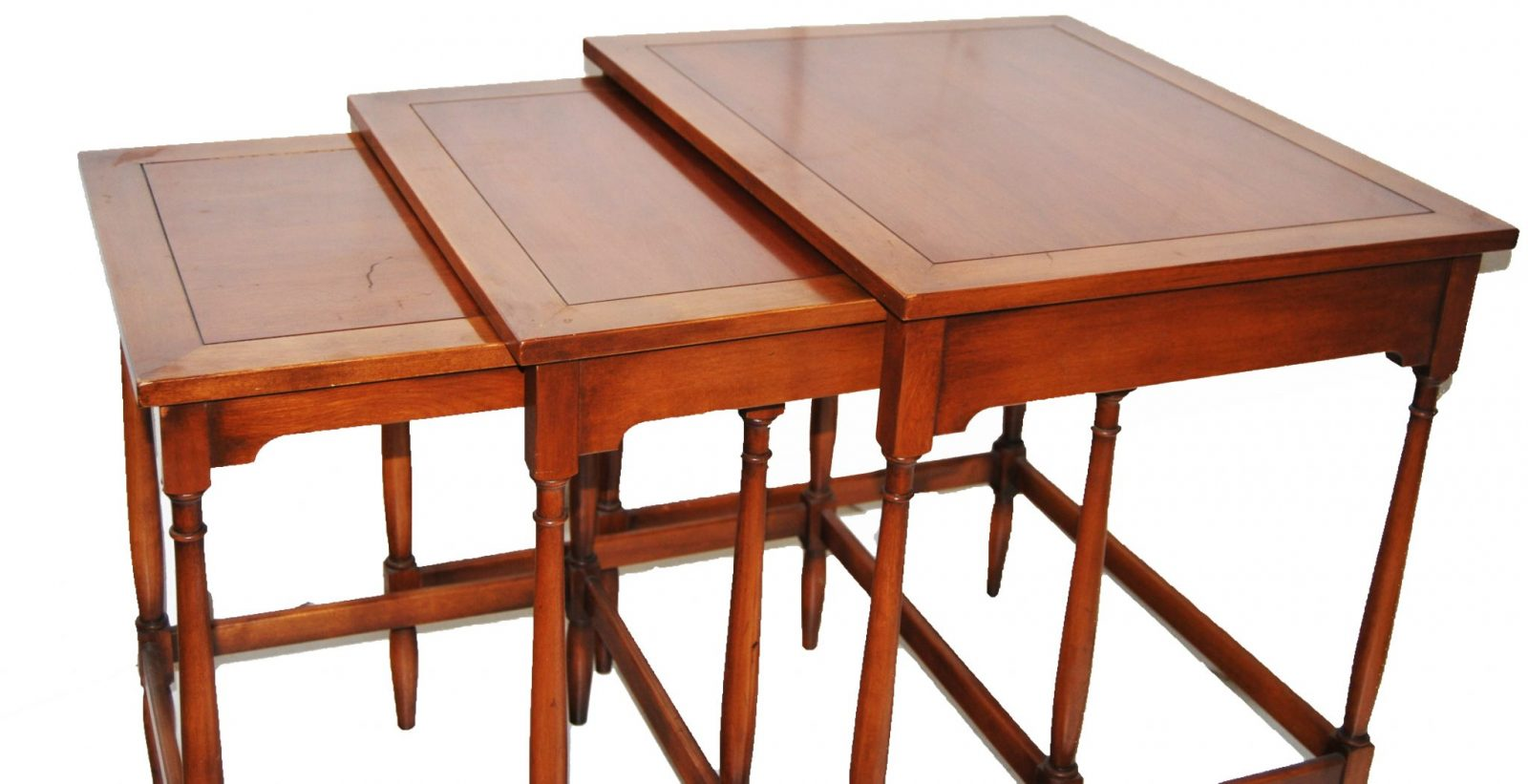 Vintage cherrywood Federal style Nesting tables : side of nesting tables from marykaysfurniture.com size 2048 x 1051 jpeg 171kB