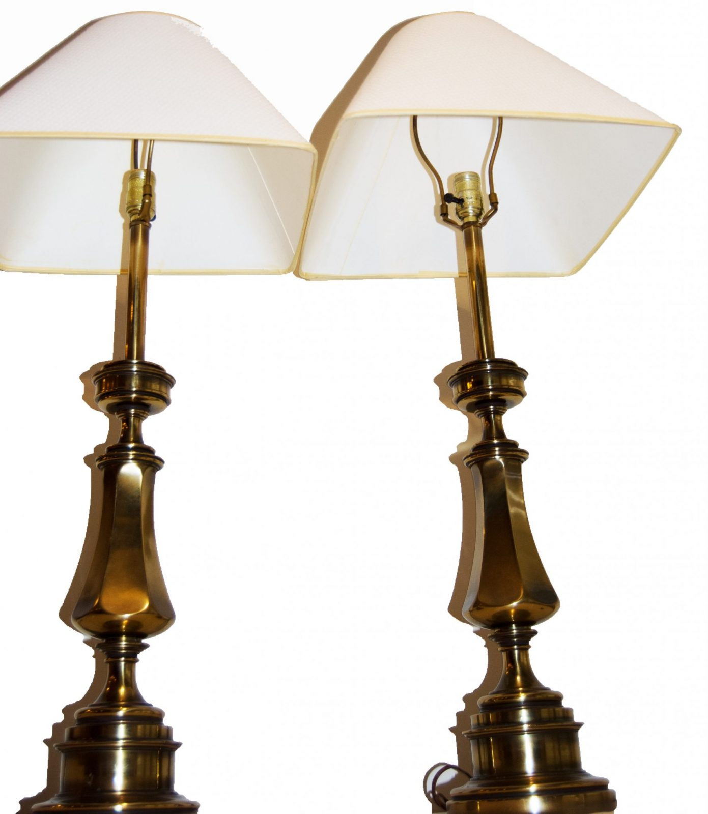 Chandelier Table Lamps: Vintage Matching Brass Stiffel Table Lamps