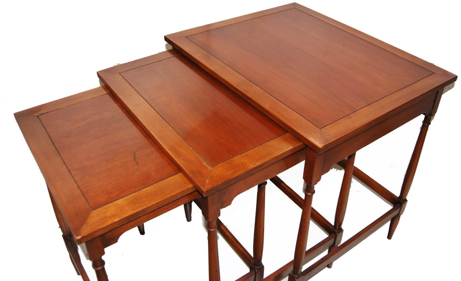 Long Nesting Tables ~ Vintage cherrywood federal style nesting tables