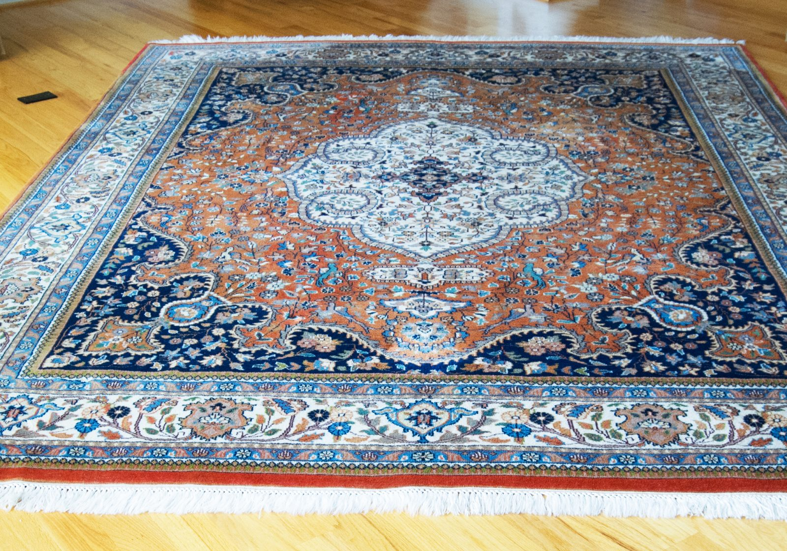 Persian Wool Hand Knotted Tabriz Rug