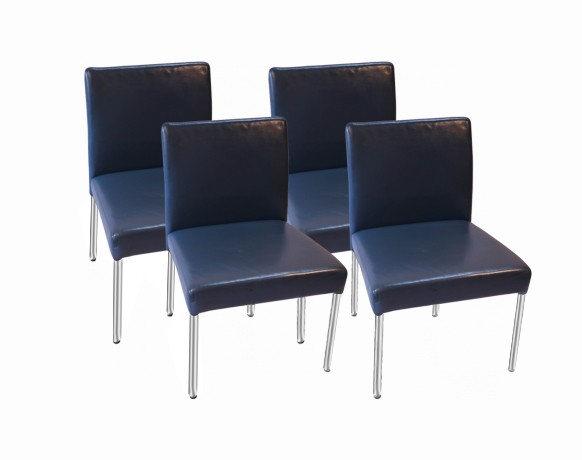 Stupendous Brayton International Modern Leather Side Dining Chairs Four Creativecarmelina Interior Chair Design Creativecarmelinacom