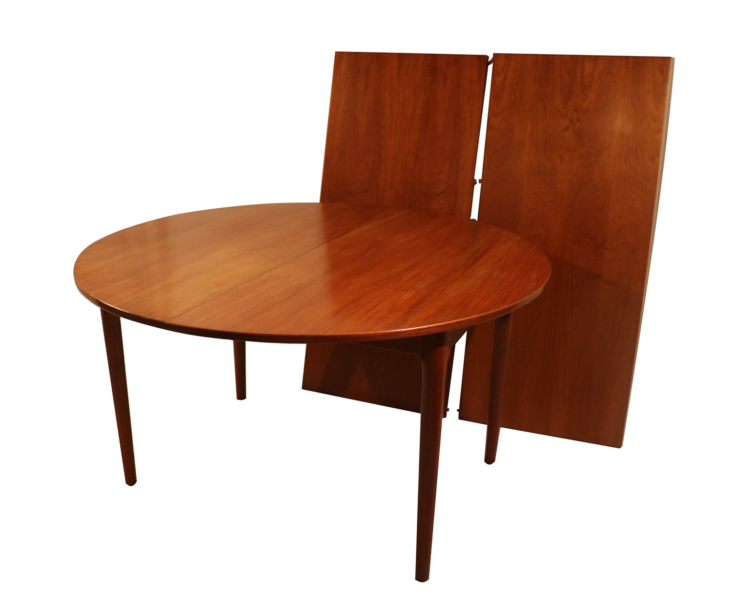 Modern Expandable Dining Table: Danish Modern Teak Expandable Dining Table
