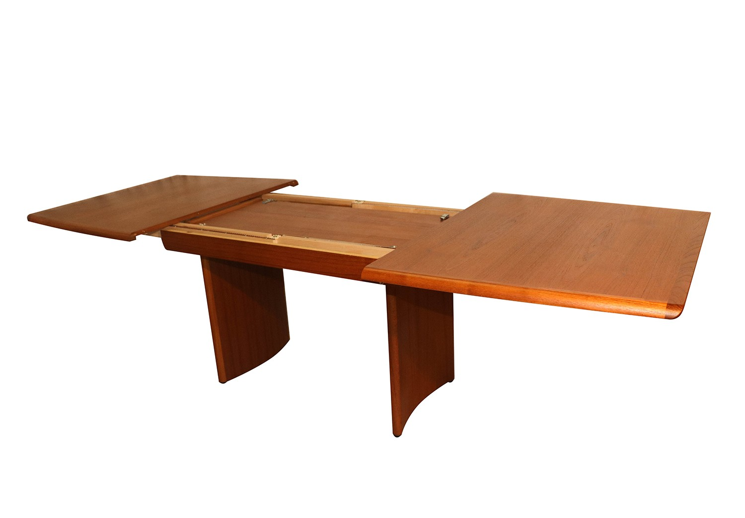 Danish modern teak expandable dining table for On the dining table
