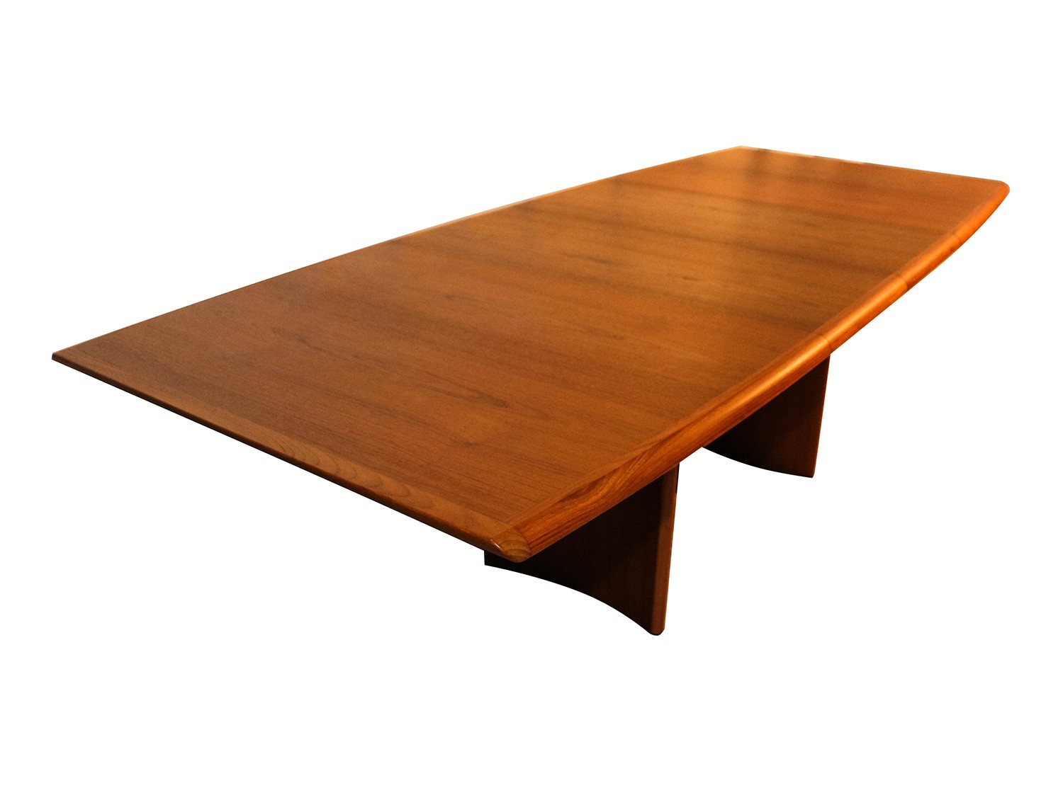 Danish modern teak expandable dining table for Expandable dining table