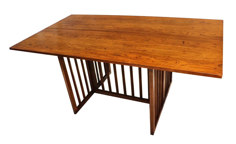 Mid Century Modern Folding Console Dining Table - Mid century modern folding dining table