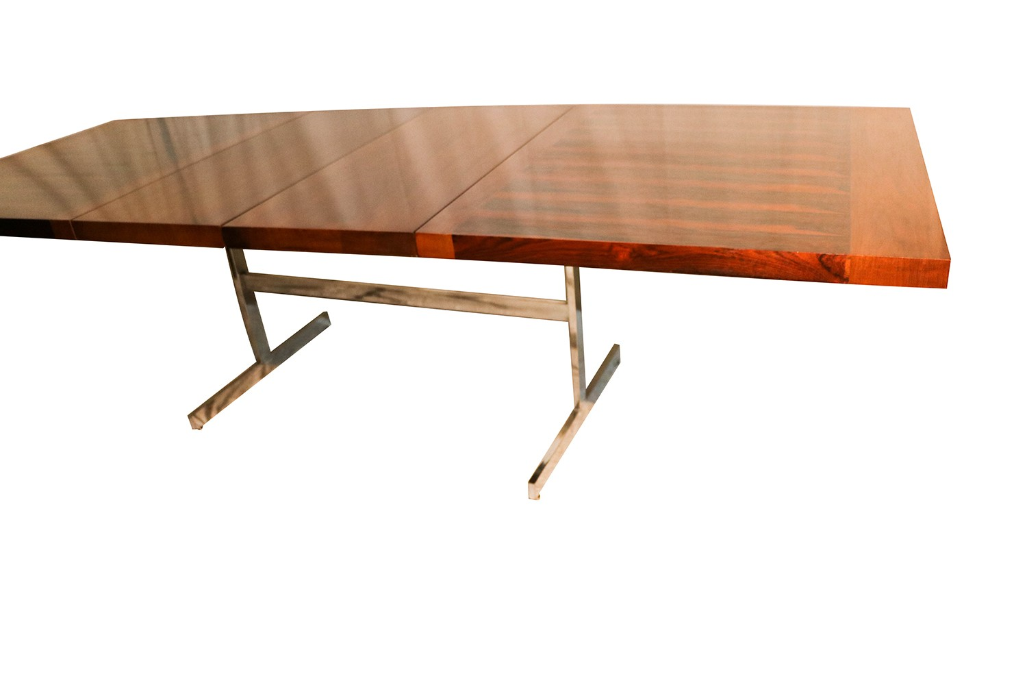 Alfred hendrickx belgian mid century rosewood expandable for Expandable dining table