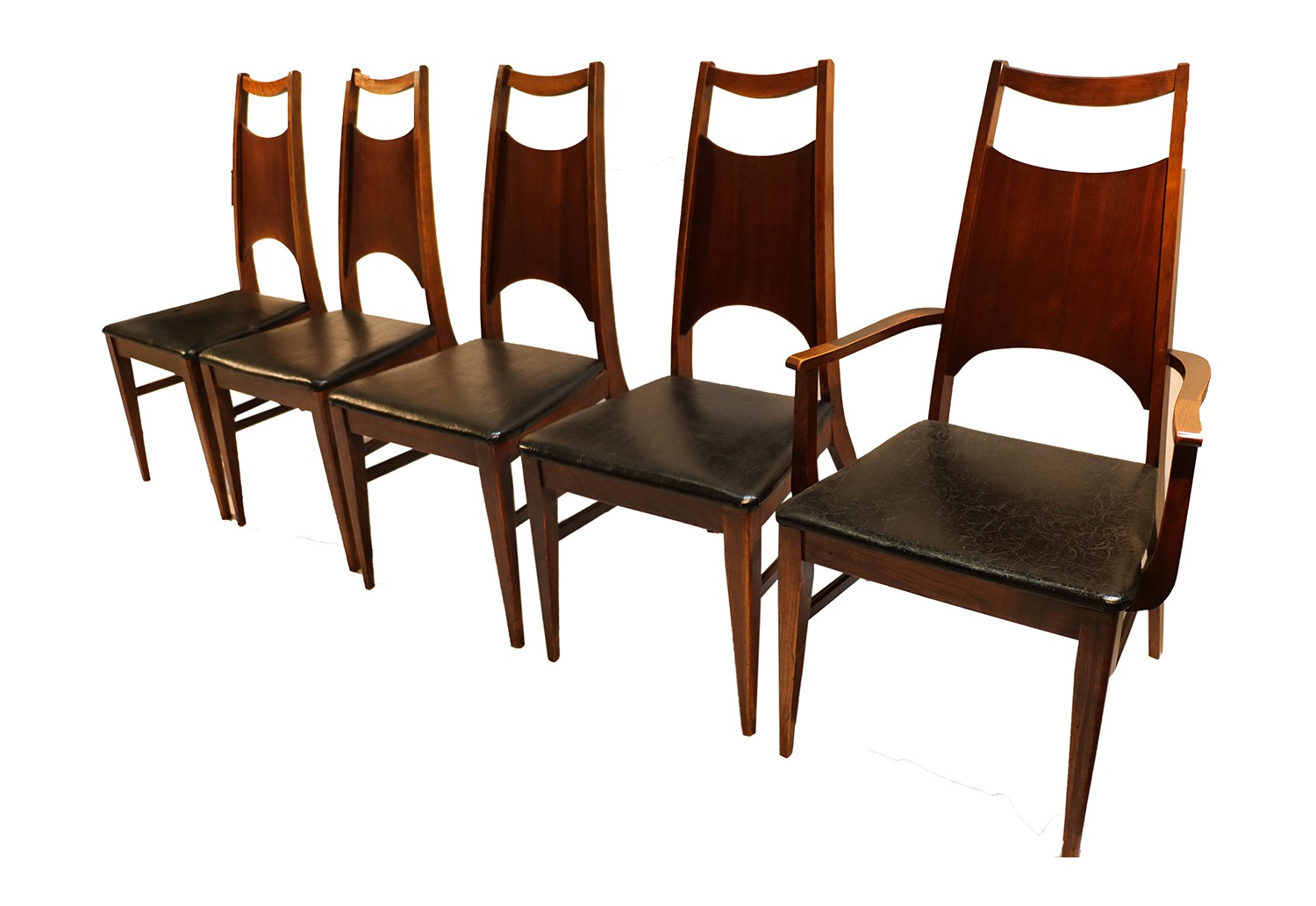 Mid century modern bassett dining chairs for Restaurant furniture