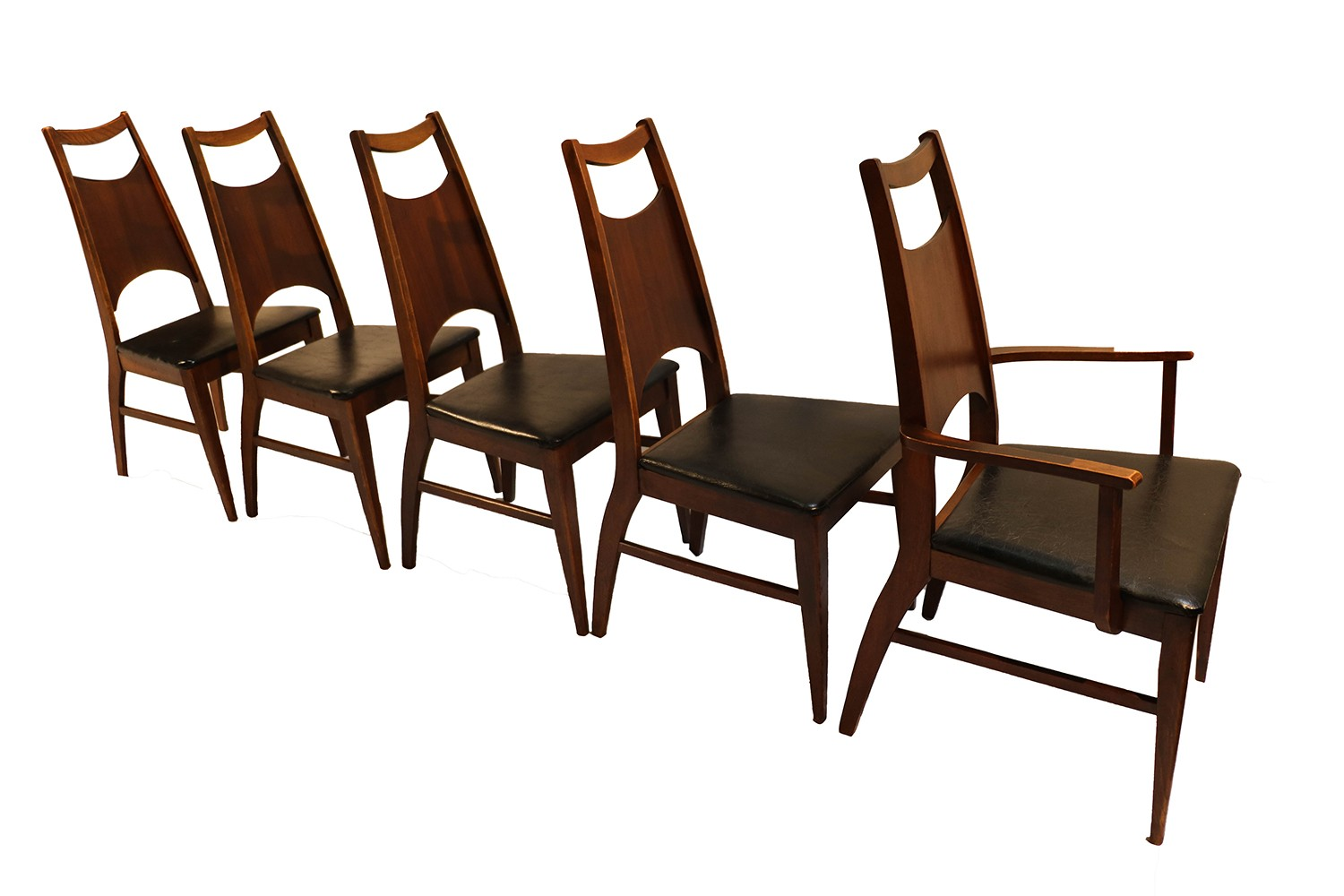 Mid century modern bassett dining chairs for Modern contemporary dining chairs