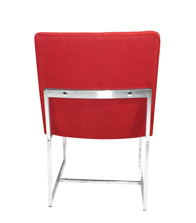Milo Baughman Style Chrome Dining Chairs ...
