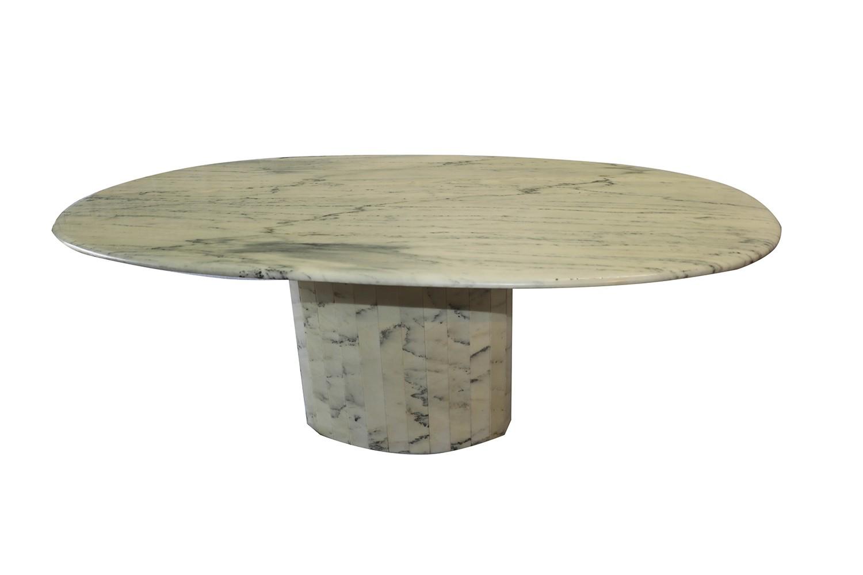 Mid Century Italian Carrara Marble Dining Table - Mid century marble dining table