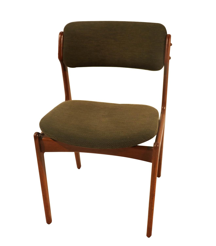 Teak Dining Chairs By Erik Buch For Oddense Maskinsnedkeri