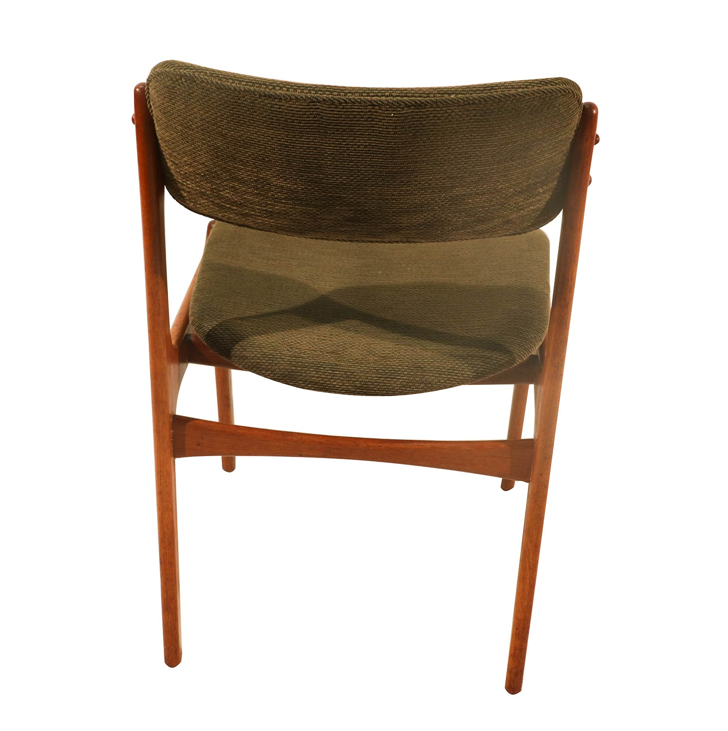 Teak Dining chairs by Erik Buch for Oddense Maskinsnedkeri A S 1960s