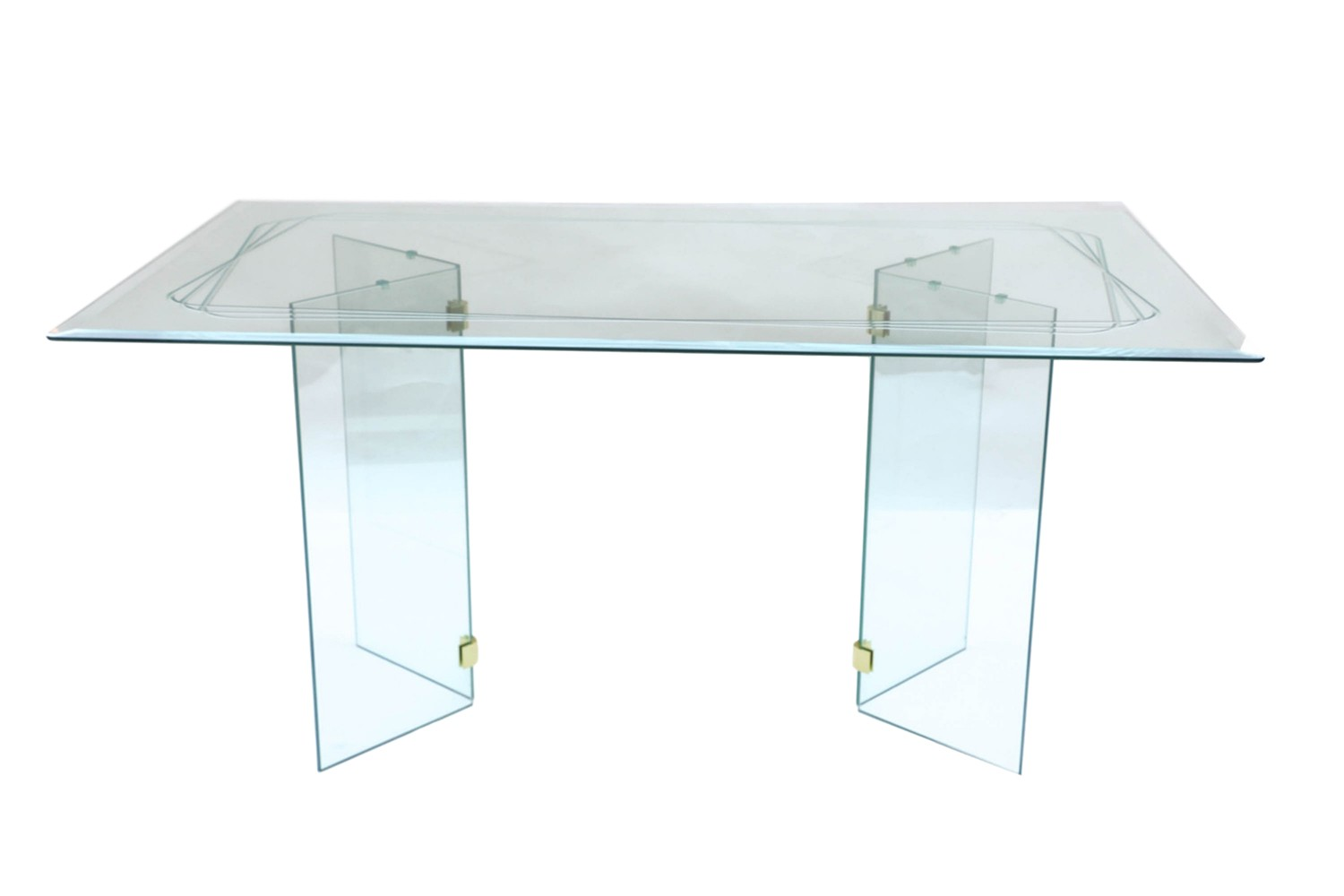 Pace style mid century glass dining table for Styling a dining table