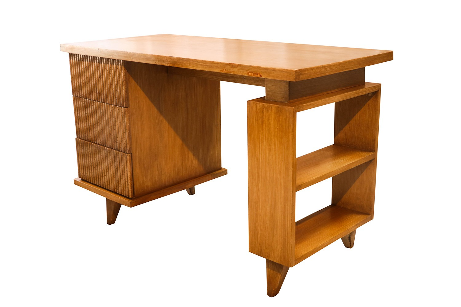 American Of Martinsville Bamboo Desk