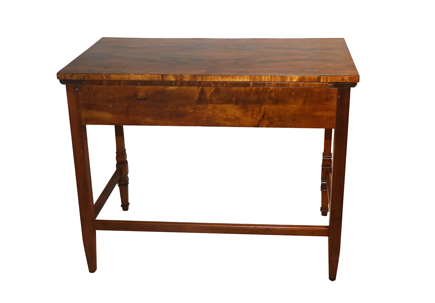 Figured Walnut And Maple Side Table Desk