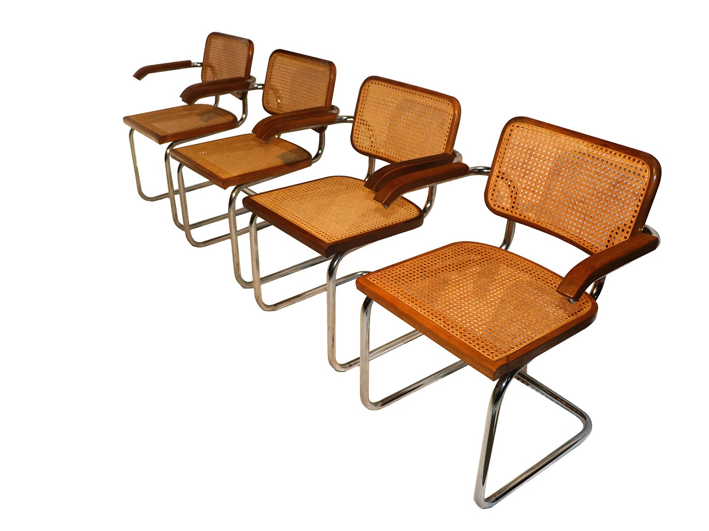 Breuer chair cane - Marcel Breuer Cesca Style Cane Arm Chairs