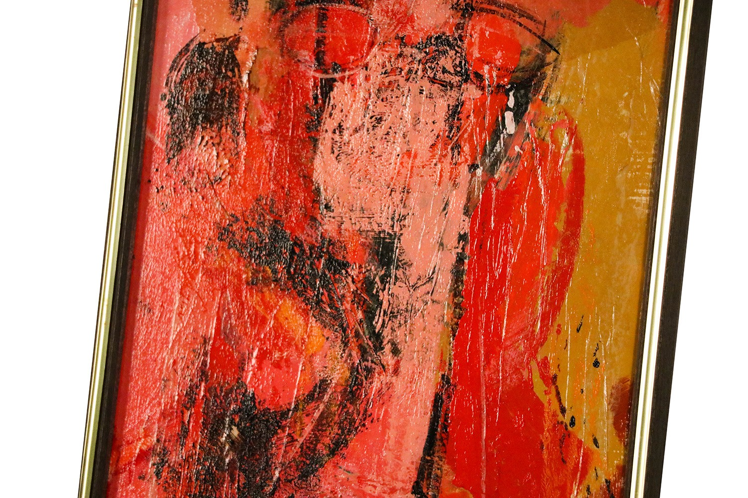 Mid Century Abstract Expressionist Oil Paintings Signed