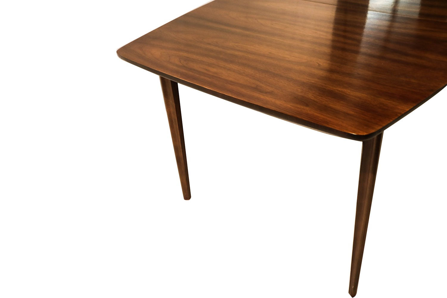 mid century modern expandable dining table. Black Bedroom Furniture Sets. Home Design Ideas