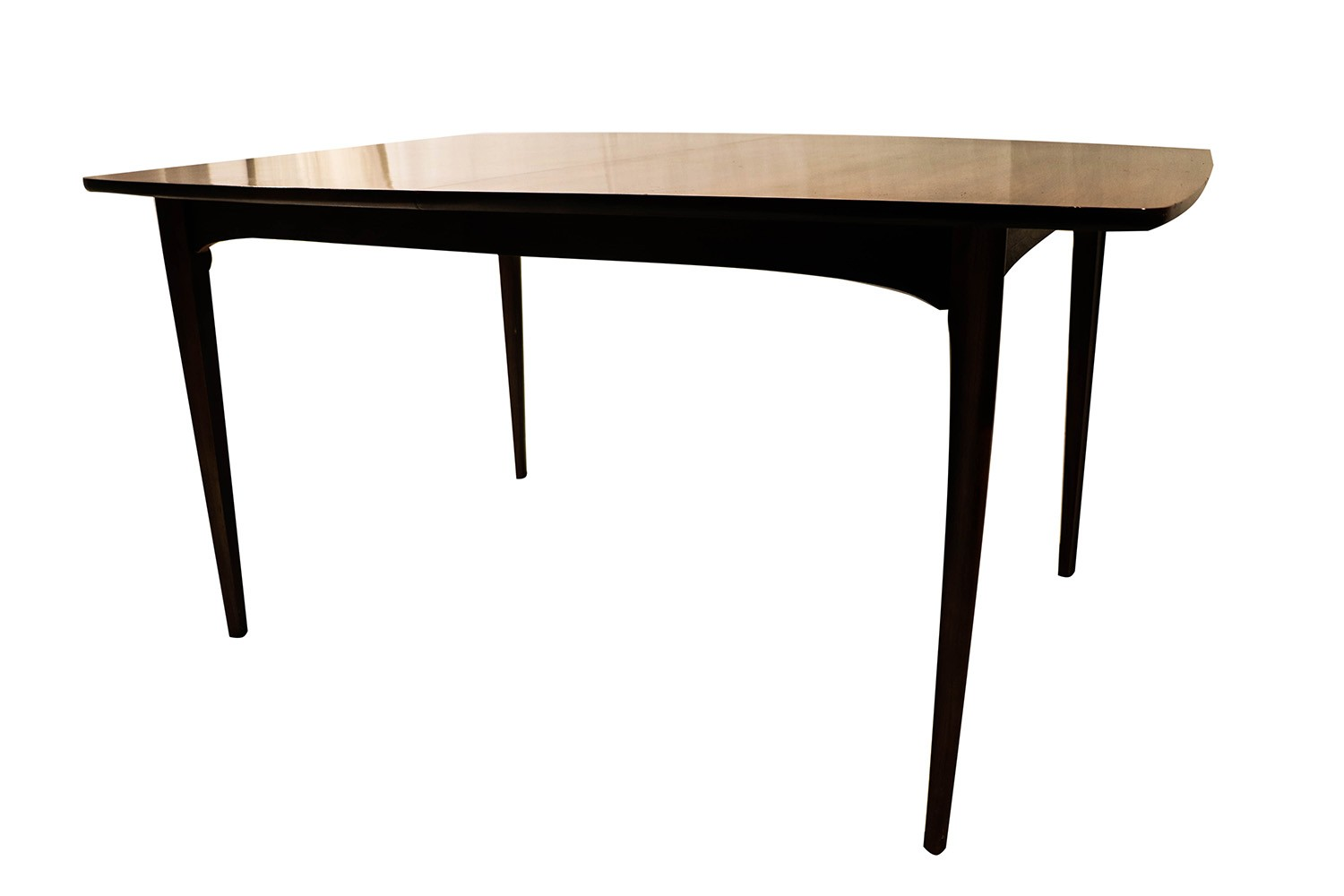 Mid century modern expandable dining table for Mid century modern dining table