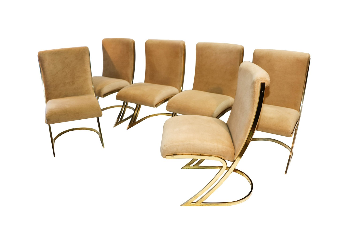 Large Dining Room Set Pierre Cardin Mid Century Brass Side Dining Chairs