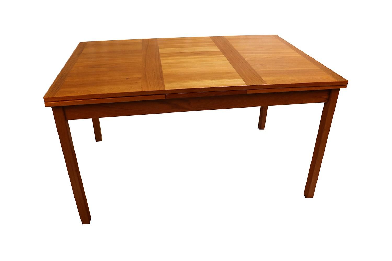 Danish Modern Teak Extendable Dining Table Vejle Stole M Belfabrik