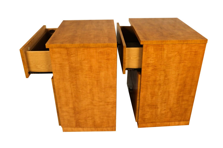 Pair mid century dressers milo baughman style lane furniture for Mid century style furniture