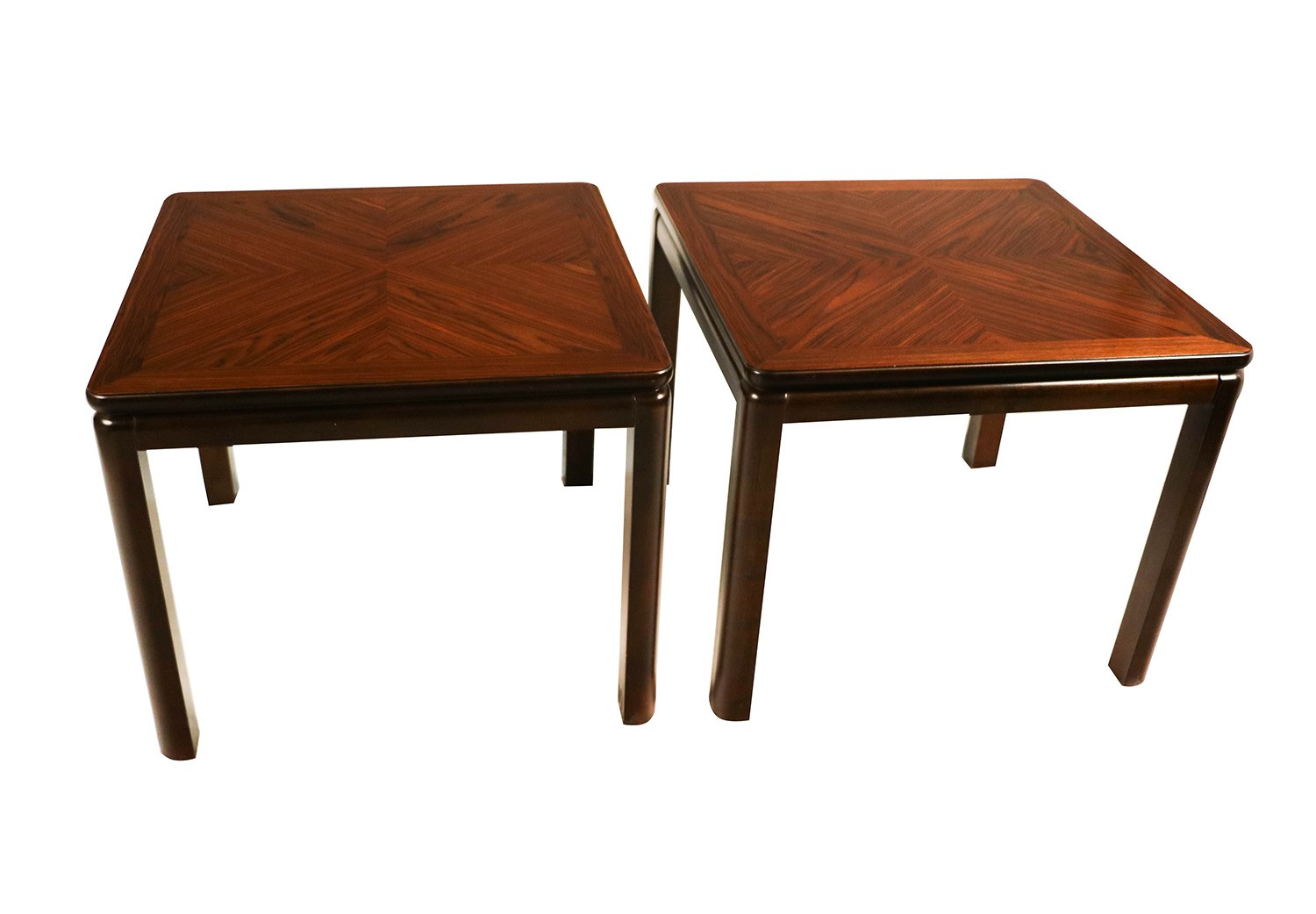 Pair mid century lane rosewood side tables for Century furniture