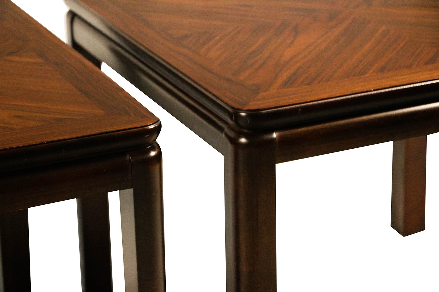 Pair Mid Century Lane Rosewood Side Tables