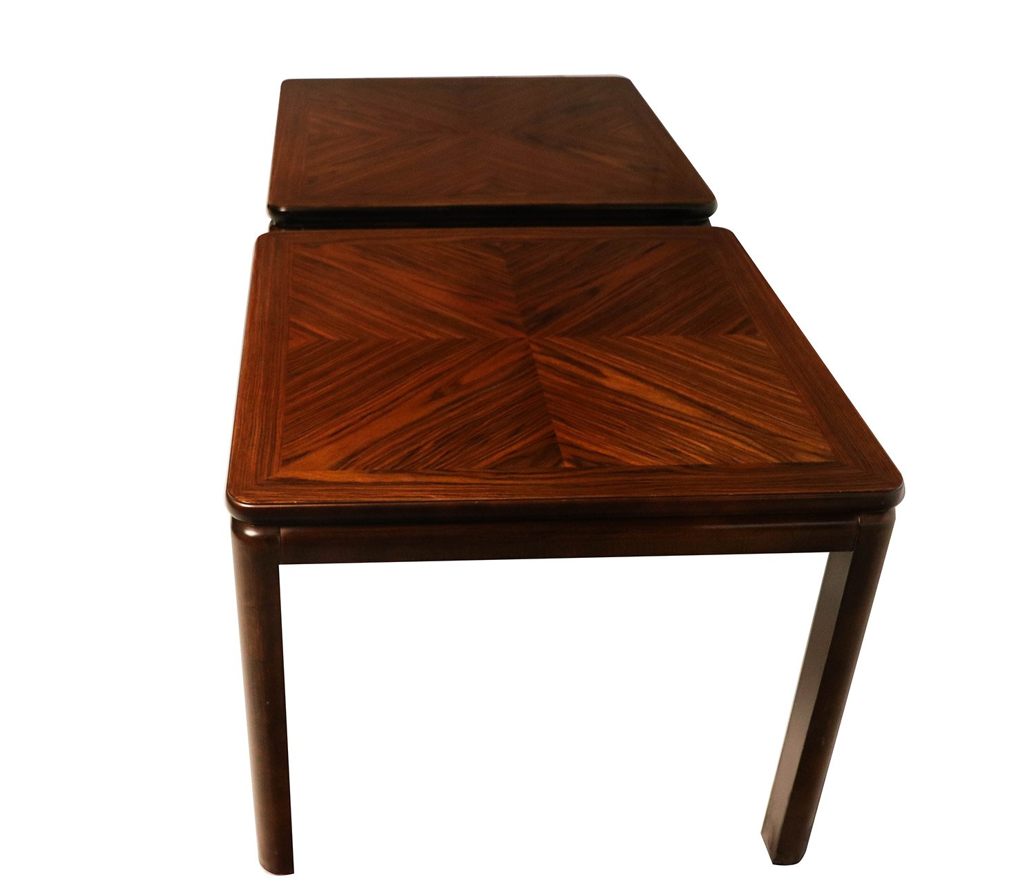 1950s Mid Century End Table By Lane Furniture: Pair Mid Century Lane Rosewood Side Tables