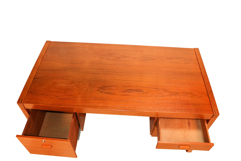 Mid Century Danish Teak Executive Desk