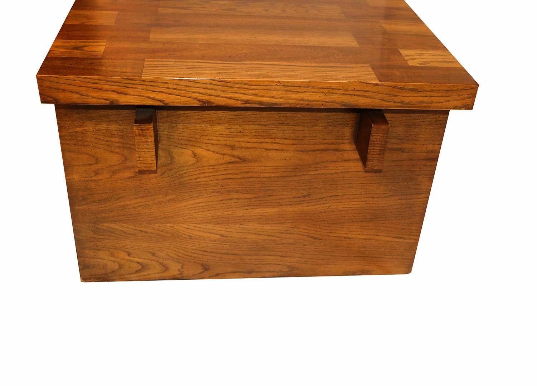 Mid Century Modern Lane Brutalist Oak Coffee Table - Mid century oak coffee table