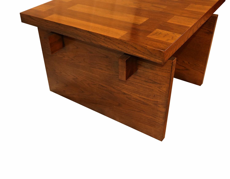 Mid Century Modern Lane Brutalist Oak Coffee Table