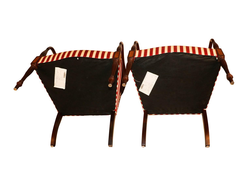 Pair Hickory Chair Mahogany Federal Style Martha