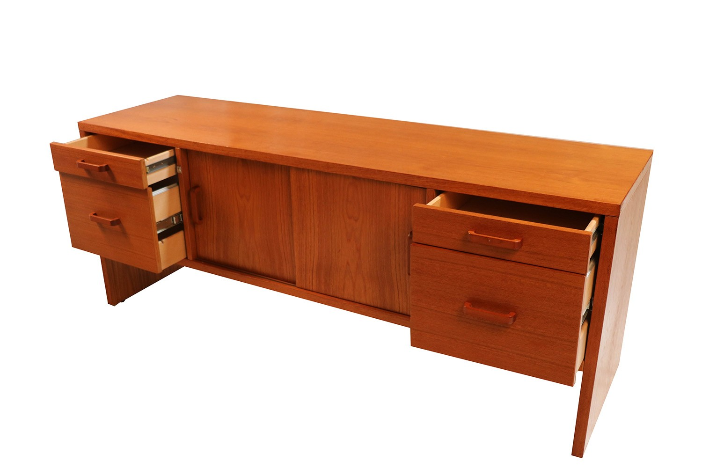 Danish Office Credenza : Mid century modern danish teak office credenza