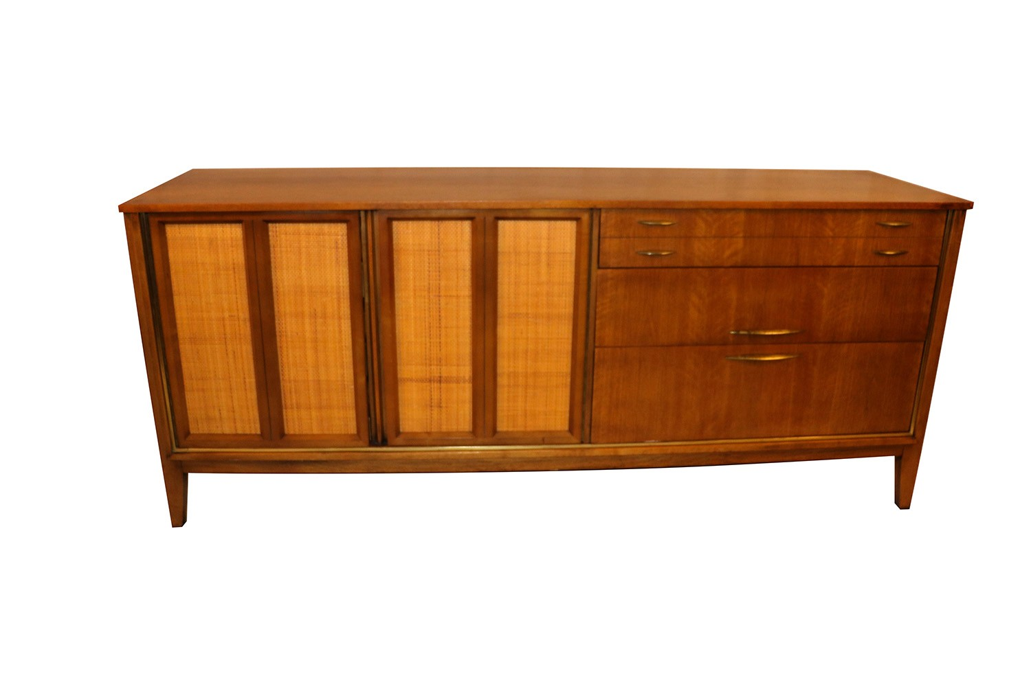 Mid Century Modern Triple Dresser West Michigan Furniture Company 2 Copper And Marble Coffee Table