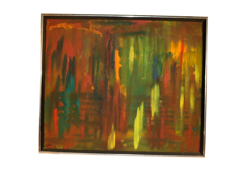 Mid Century Original Andrea Suter Oil Painting