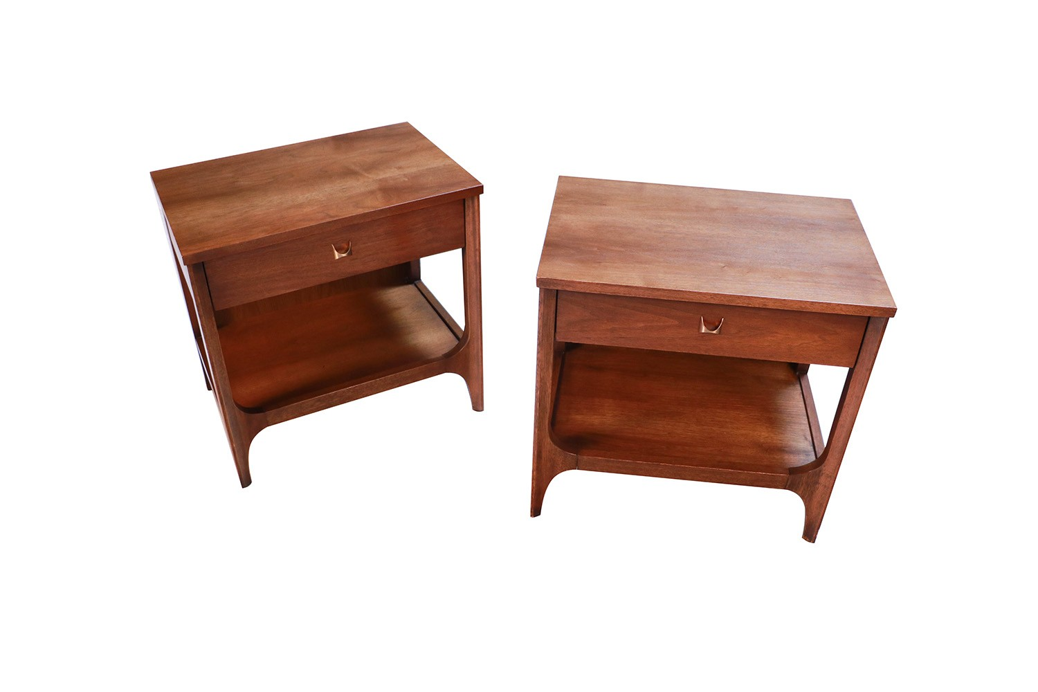 Pair Mid Century Broyhill Brasilia Nightstands End Side Tables Mary Kay S Furniture