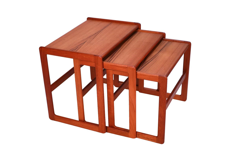 Danish Mid Century Modern Denmark Teak Nesting Tables