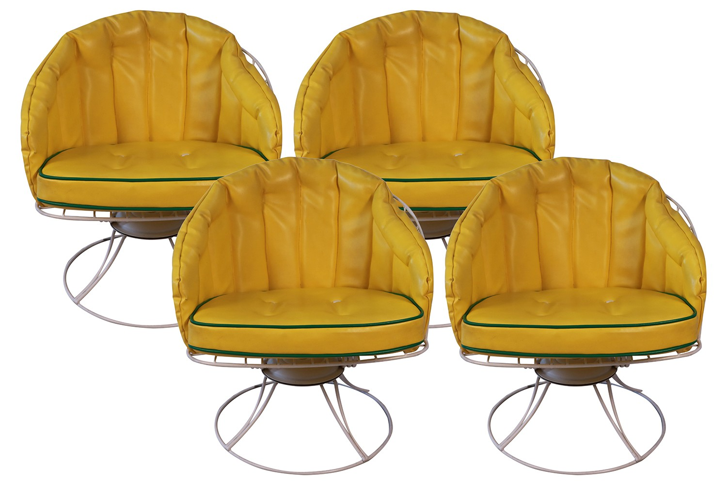 Four Vintage Mid Century Modern 1960s Homecrest Swivel Barrel