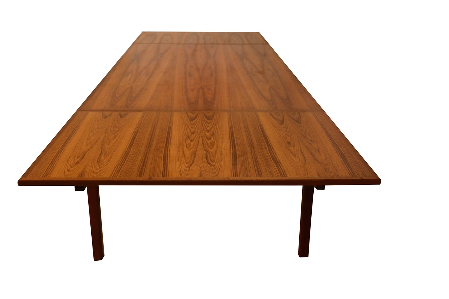 danish teak extra large expanding dining table with 2 leaves. Black Bedroom Furniture Sets. Home Design Ideas