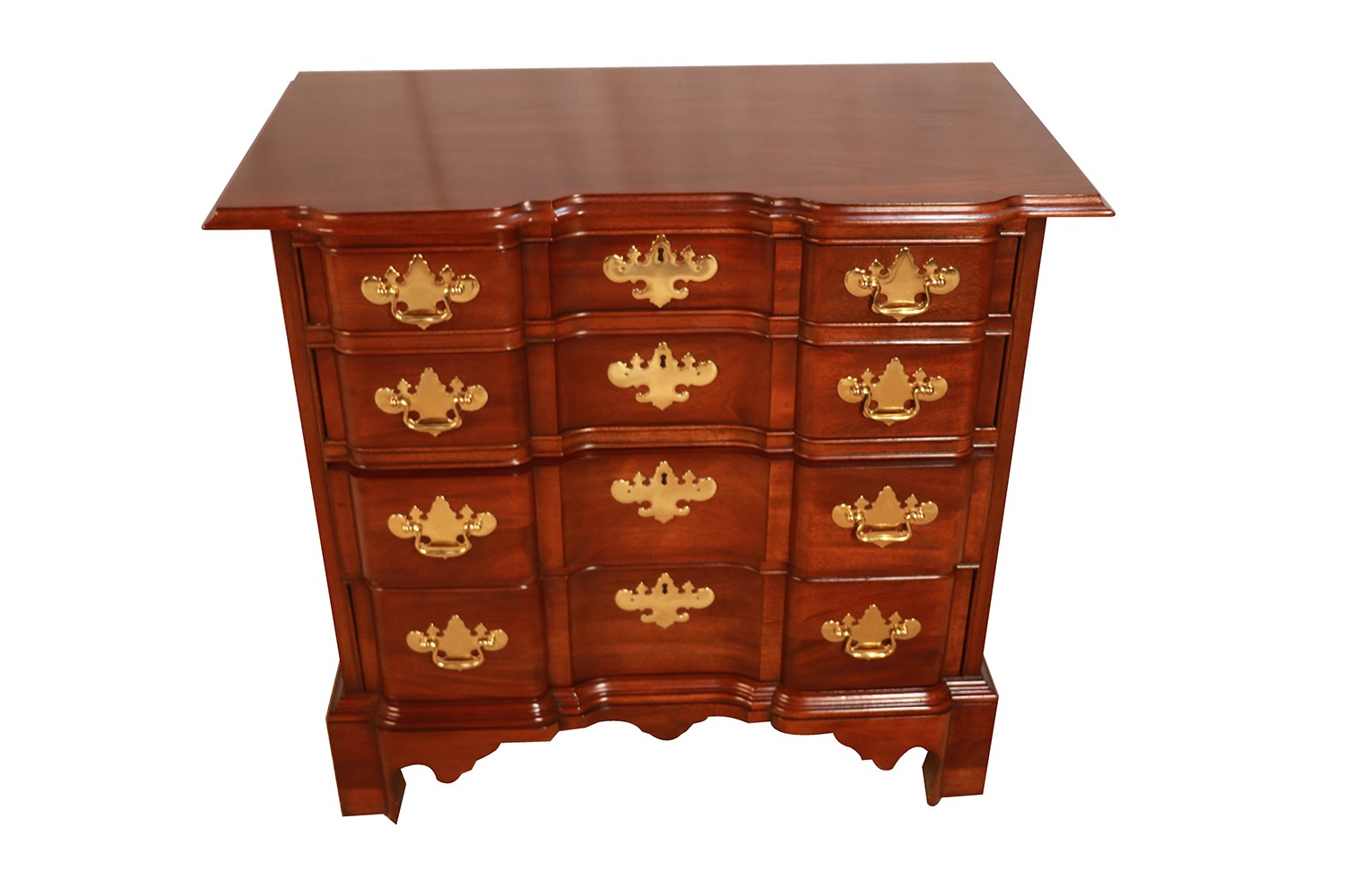 Councill Craftsmen Mahogany Chippendale Style Block Front