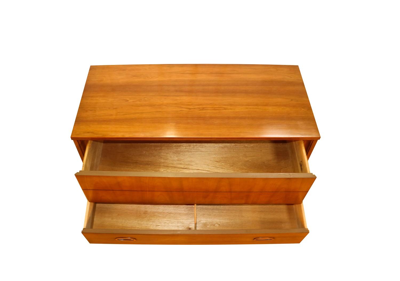 Mid Century Highboy Tall Walnut Dresser By Dixie Furniture