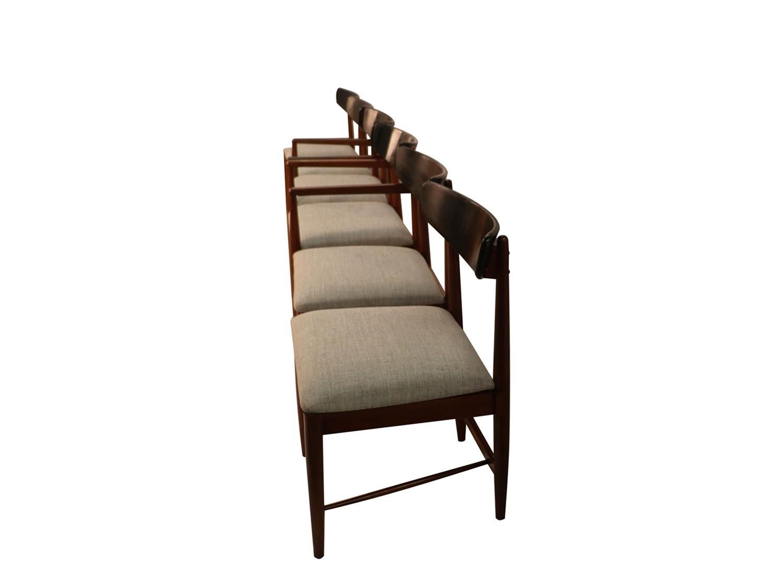 Attrayant Mid Century Modern Walnut Dania American Of Martinsville Dining Chairs