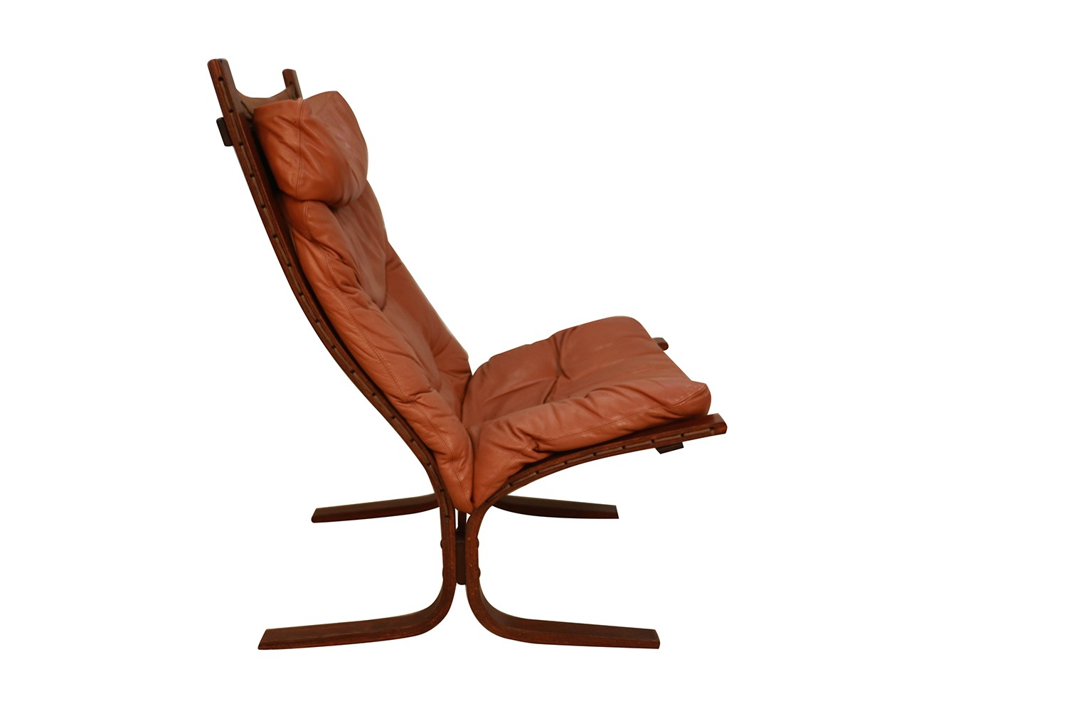 Amazing Mid Century Siesta Leather Lounge Chair By Ingmar Relling For Westnofa Ibusinesslaw Wood Chair Design Ideas Ibusinesslaworg