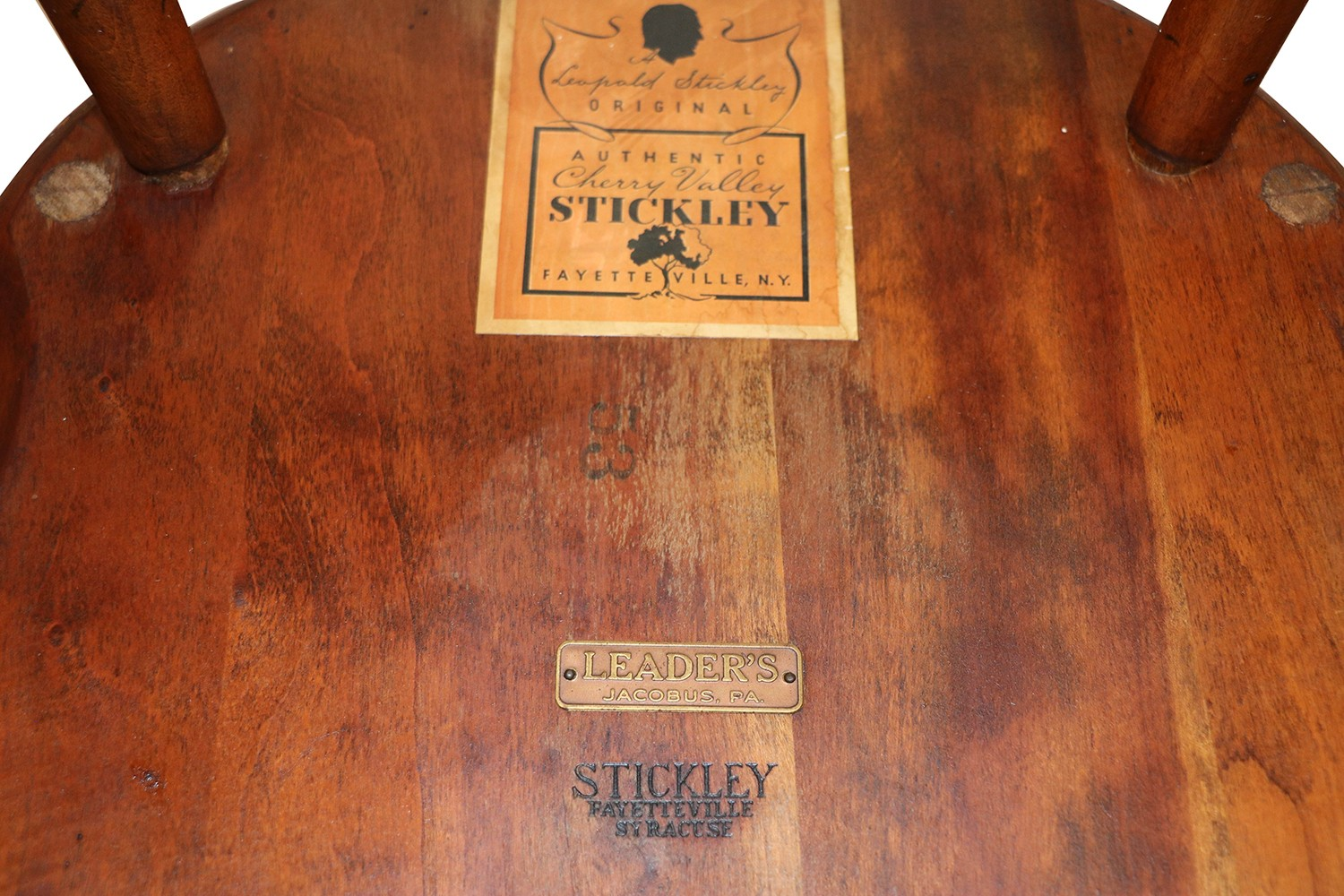 Five Stickley Fan Back Windsor Bamboo Turned Chairs