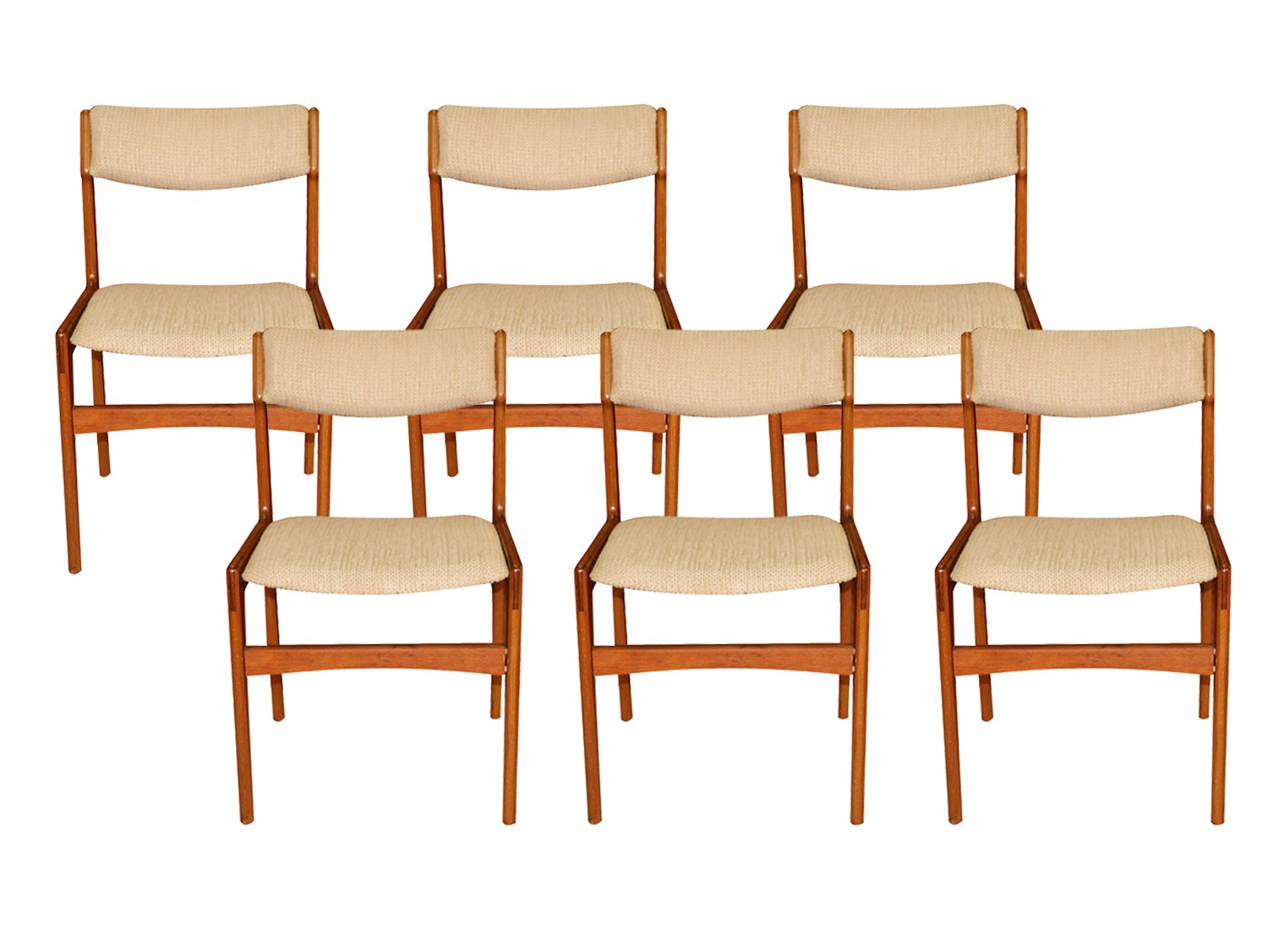 Magnificent Mid Century Danish Teak Dining Chairs Bralicious Painted Fabric Chair Ideas Braliciousco